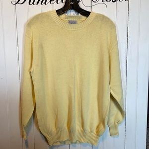 Currier House Sweater Crew Neck Light Yellow Knit